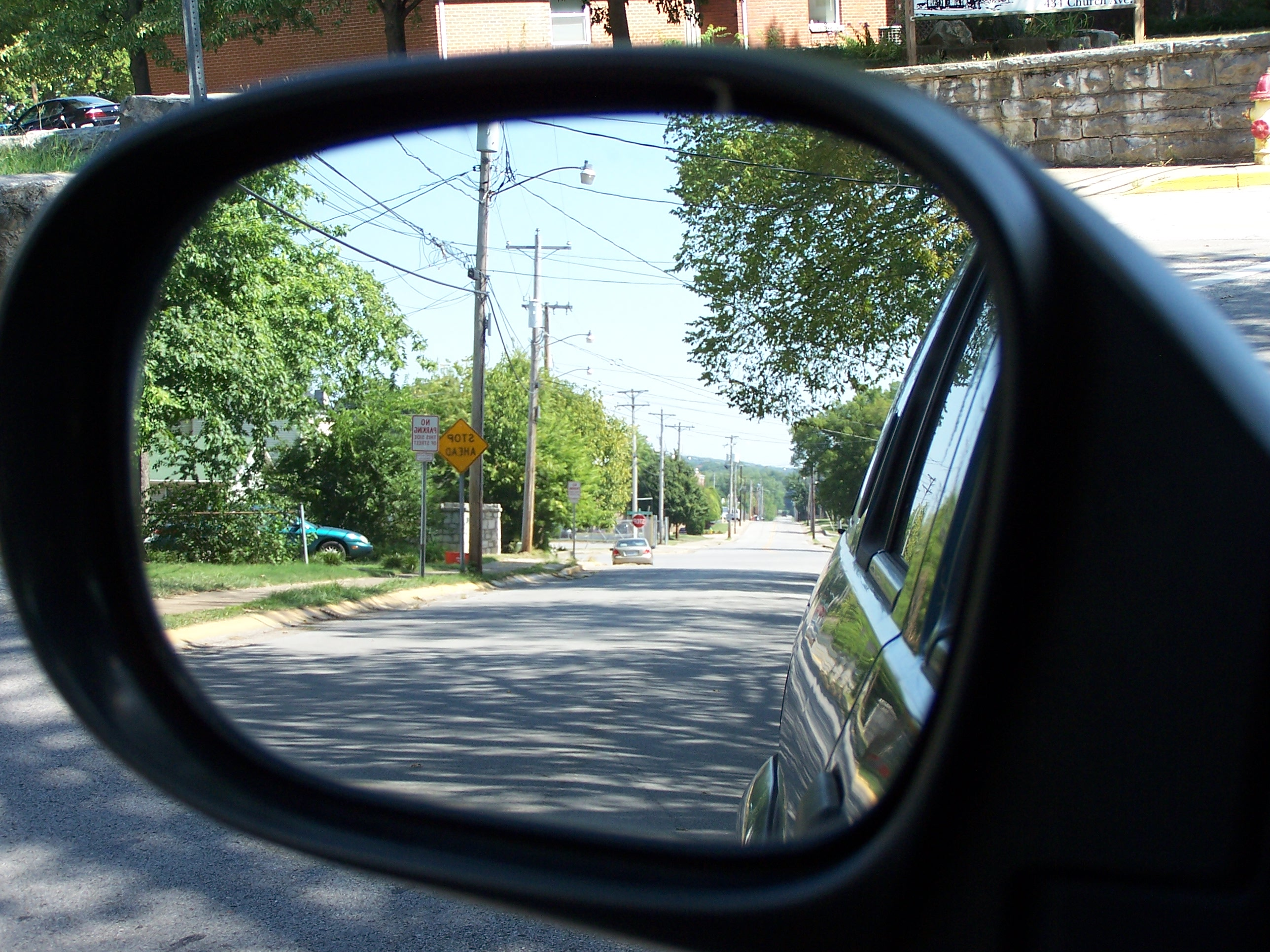 adjust  mirrors thinking driver